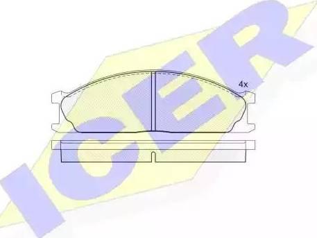 Icer 140884 - Piduriklotsi komplekt,ketaspidur multiparts.ee