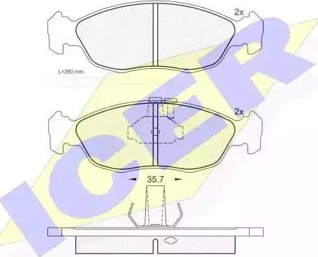 Icer 180932 - Piduriklotsi komplekt,ketaspidur multiparts.ee