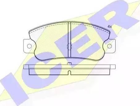 Icer 180490 - Piduriklotsi komplekt,ketaspidur multiparts.ee
