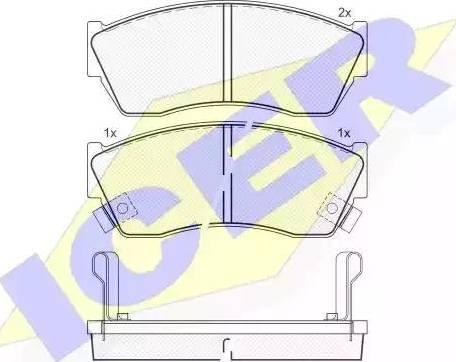Icer 180811 - Piduriklotsi komplekt,ketaspidur multiparts.ee