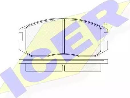 Icer 180875 - Piduriklotsi komplekt,ketaspidur multiparts.ee