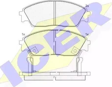 Icer 180755 - Piduriklotsi komplekt,ketaspidur multiparts.ee