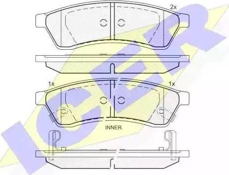 Icer 181930 - Piduriklotsi komplekt,ketaspidur multiparts.ee