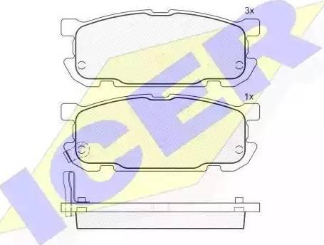 Icer 181541 - Piduriklotsi komplekt,ketaspidur multiparts.ee