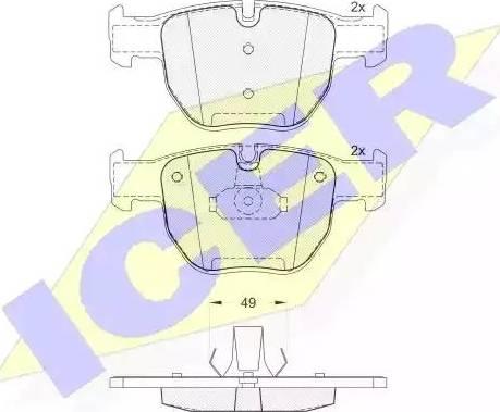 Icer 181574 - Piduriklotsi komplekt,ketaspidur multiparts.ee