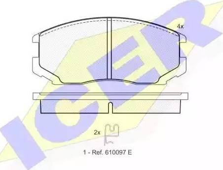 Icer 181129 - Piduriklotsi komplekt,ketaspidur multiparts.ee