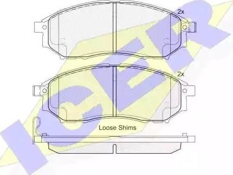 Icer 181876 - Piduriklotsi komplekt,ketaspidur multiparts.ee