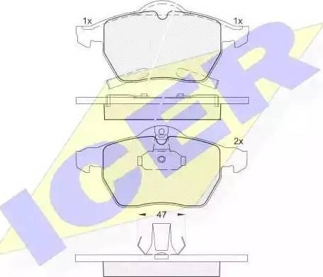 Icer 181383 - Piduriklotsi komplekt,ketaspidur multiparts.ee