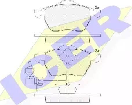 Icer 181331-203 - Piduriklotsi komplekt,ketaspidur multiparts.ee