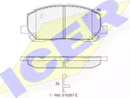 Icer 181705 - Piduriklotsi komplekt,ketaspidur multiparts.ee