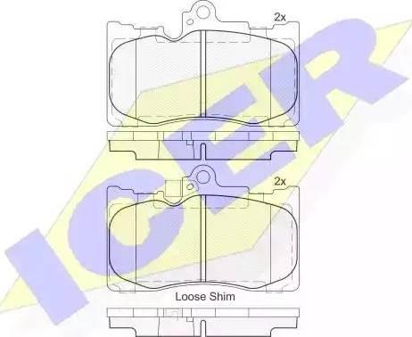 Icer 182059 - Piduriklotsi komplekt,ketaspidur multiparts.ee