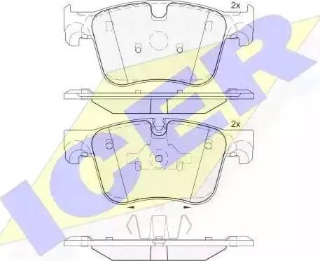 Icer 182166 - Piduriklotsi komplekt,ketaspidur multiparts.ee