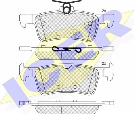 Icer 182174-200 - Piduriklotsi komplekt,ketaspidur multiparts.ee