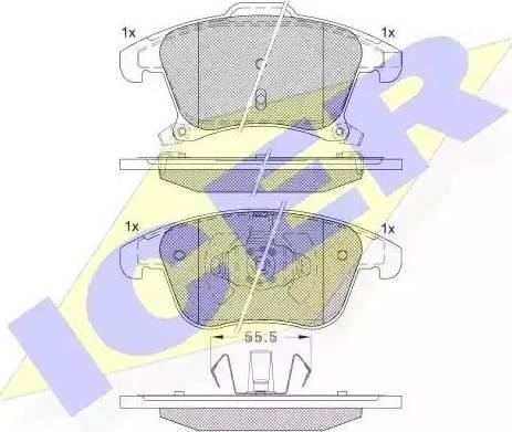 Icer 182231 - Piduriklotsi komplekt,ketaspidur multiparts.ee