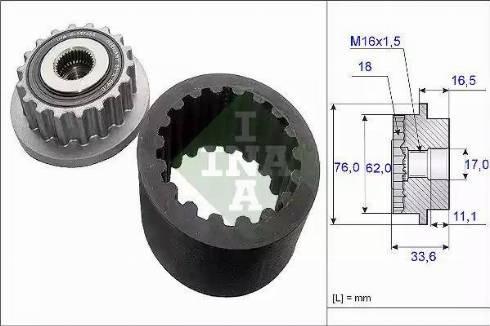 INA 535 0186 10 - Paindlik sidurimuhv-komplekt multiparts.ee