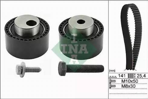 INA 530 0111 10 - Hammasrihma komplekt multiparts.ee