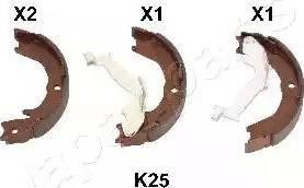 Japanparts GF-K25AF - Piduriklotside komplekt,seisupidur multiparts.ee