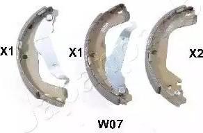 Japanparts GF-W07AF - Piduriklotside komplekt multiparts.ee