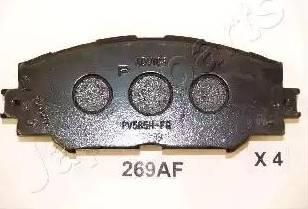 Japanparts PA-269AF - Piduriklotsi komplekt,ketaspidur multiparts.ee