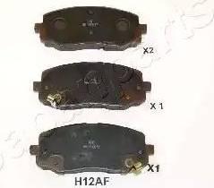 Japanparts PA-H12AF - Piduriklotsi komplekt,ketaspidur multiparts.ee