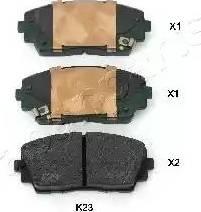 Japanparts PA-K23AF - Piduriklotsi komplekt,ketaspidur multiparts.ee