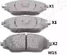 Japanparts PA-W15AF - Piduriklotsi komplekt,ketaspidur multiparts.ee