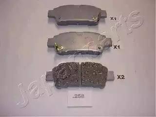 Japanparts PP-258AF - Piduriklotsi komplekt,ketaspidur multiparts.ee