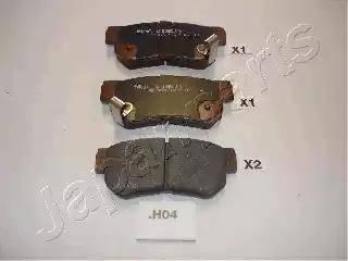 Japanparts PP-H04AF - Piduriklotsi komplekt,ketaspidur multiparts.ee