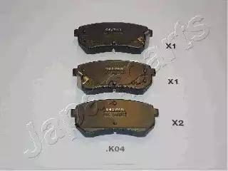 Japanparts PP-K04AF - Piduriklotsi komplekt,ketaspidur multiparts.ee