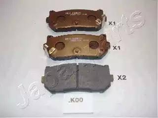 Japanparts PP-K00AF - Piduriklotsi komplekt,ketaspidur multiparts.ee