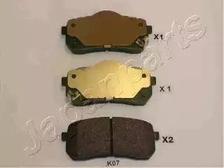 Japanparts PP-K07AF - Piduriklotsi komplekt,ketaspidur multiparts.ee