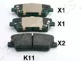 Japanparts PP-K11AF - Piduriklotsi komplekt,ketaspidur multiparts.ee