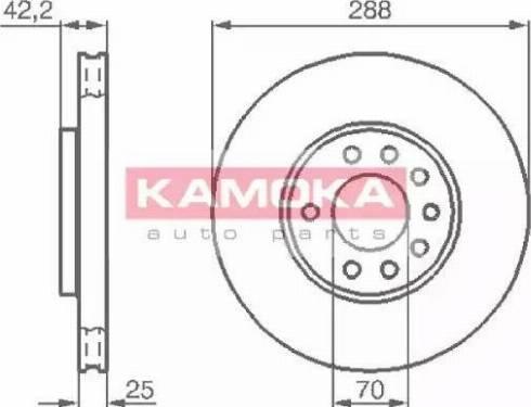 Kamoka 1031620 - Piduriketas multiparts.ee