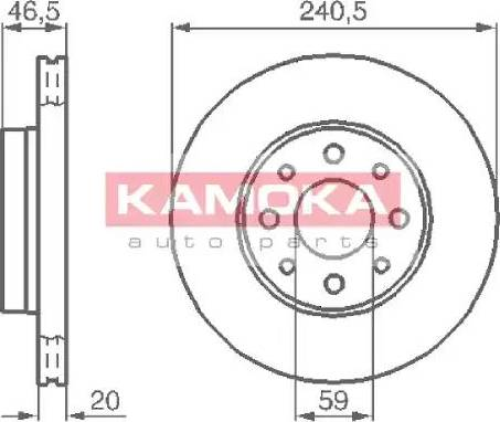 Kamoka 1031776 - Piduriketas multiparts.ee