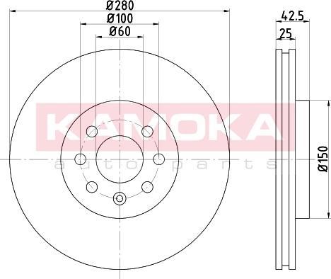 Kamoka 103254 - Piduriketas multiparts.ee