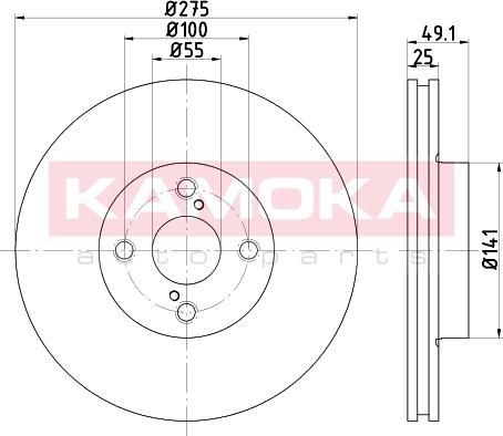 Kamoka 103255 - Piduriketas multiparts.ee
