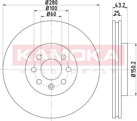 Kamoka 103258 - Piduriketas multiparts.ee