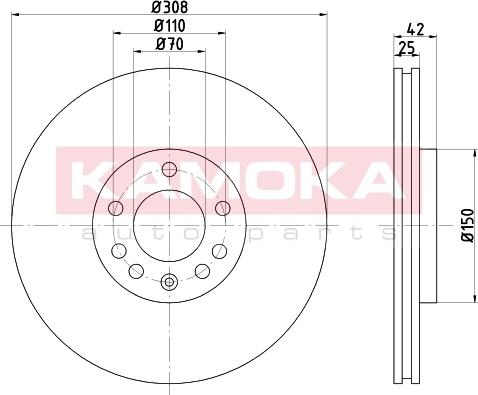 Kamoka 103253 - Piduriketas multiparts.ee