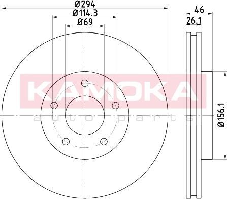 Kamoka 103266 - Piduriketas multiparts.ee