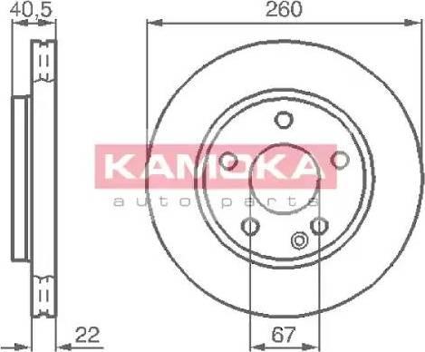 Kamoka 1032070 - Piduriketas multiparts.ee