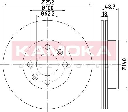 Kamoka 103207 - Piduriketas multiparts.ee