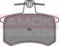 Kamoka JQ101444 - Piduriklotsi komplekt,ketaspidur multiparts.ee