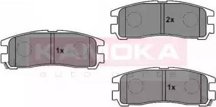 Kamoka JQ1011606 - Piduriklotsi komplekt,ketaspidur multiparts.ee
