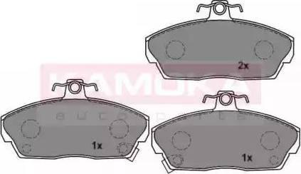 Kamoka JQ1011226 - Piduriklotsi komplekt,ketaspidur multiparts.ee