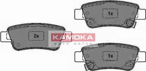 Kamoka JQ1018466 - Piduriklotsi komplekt,ketaspidur multiparts.ee