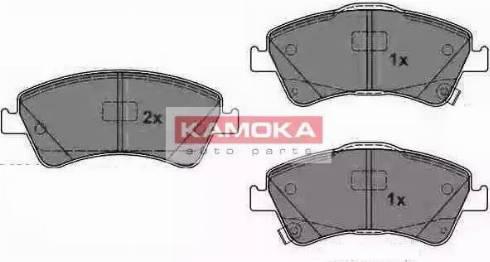 Kamoka JQ1018094 - Piduriklotsi komplekt,ketaspidur multiparts.ee