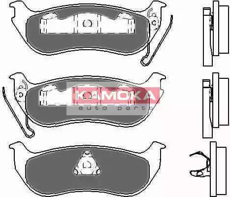 Kamoka JQ1013320 - Piduriklotsi komplekt,ketaspidur multiparts.ee