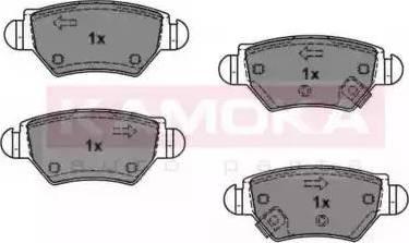 Kamoka JQ1012588 - Piduriklotsi komplekt,ketaspidur multiparts.ee