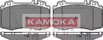 Kamoka JQ1012852 - Piduriklotsi komplekt,ketaspidur multiparts.ee