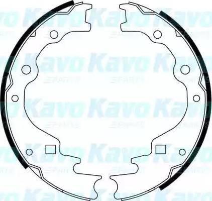 Kavo Parts BS-5422 - Piduriklotside komplekt multiparts.ee